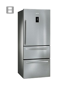 Smeg FT41BXE 75cm 1 Door, 2 Drawer, No Frost Fridge Freezer