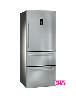 smeg-ft41bxe-75cm-1-door-2-drawer-no-frost-fridge-freezer