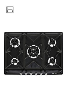 smeg-sr975ngh-70cm-built-in-5-burner-gas-hob-black