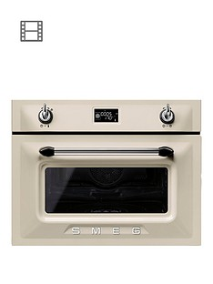 smeg-sf4920vcp-victoria-45cm-built-in-compact-steam-combination-oven-cream