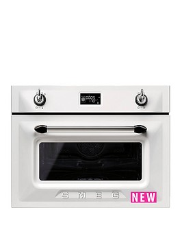 smeg-sf4920vcb-45cm-built-in-compact-steam-combination-oven-white