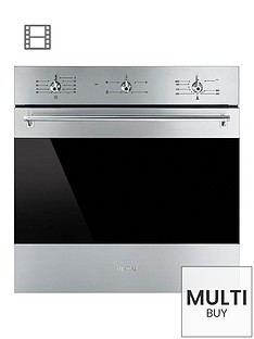 smeg-sf6341gvx-60cm-built-in-single-classic-gas-oven-with-electric-grill
