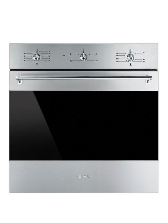 Smeg Sf6341gvx 60cm Built In Single Classic Gas Oven With Electric