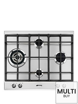 smeg-p361xgh-60cm-built-in-classic-gas-hob-with-rapid-burner