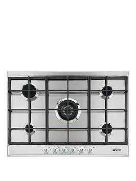 smeg-p1752xt-70cm-built-in-linea-gas-hob-with-rapid-burner
