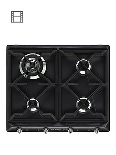 smeg-sr964ngh-60cm-built-in-4-burner-gas-hob-black