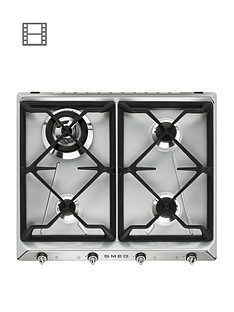 smeg-sr964xgh-60cm-built-in-4-burner-gas-hob-stainless-steel