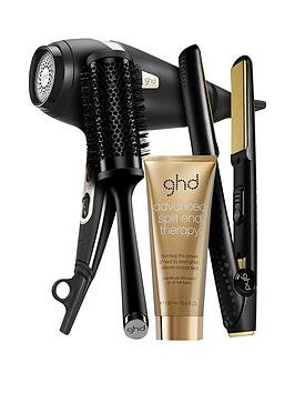 ghd-arcticnbspgold-hairdryer-and-v-stylernbspbundle