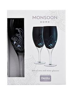 denby-monsoon-chrysanthemum-set-of-2-red-wine-glasses