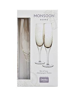 denby-monsoon-lucille-gold-champagne-flutes