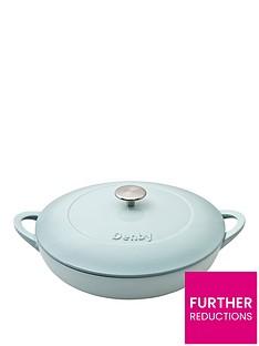 denby-pavilion-30cm-cast-iron-shallow-casserole-dish