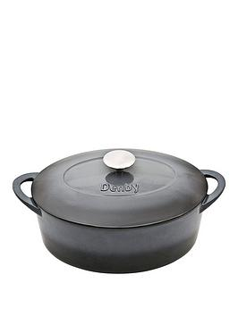 denby-halo-cast-iron-28cm-oval-casserole