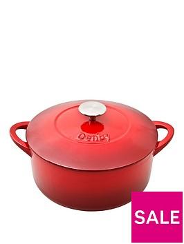 denby-pomegranate-24cm-cast-iron-round-casserole-pot