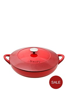 denby-pomegranate-30cm-cast-iron-shallow-casserole-pot