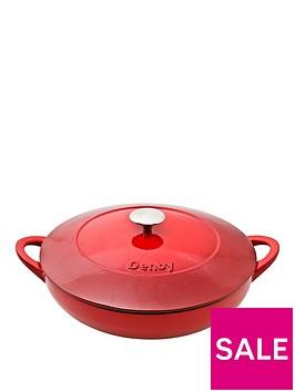 denby-pomegranate-30cm-cast-iron-shallow-casserole-pot