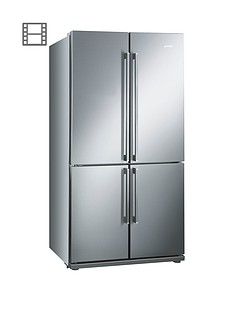 Smeg FQ60XP American Style 4-Door No Frost Fridge Freezer - Stainless Steel