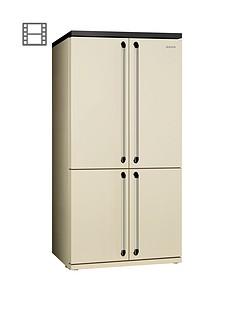 Smeg FQ960P American Style 4-Door No Frost Fridge Freezer - Cream