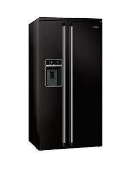 smeg-sbs963n-american-style-side-by-side-no-frost-fridge-freezer-with-water-amp-ice-dispenser-black