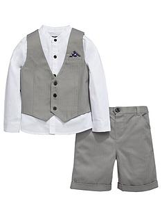 mini-v-by-very-boys-grey-herringbone-shirt-waistcoat-and-shorts-set-3-piece