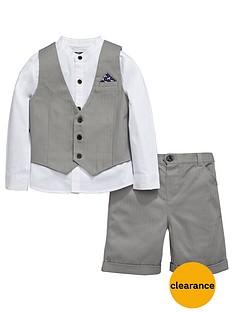mini-v-by-very-boys-grey-herringbone-shirt-waistcoat-and-shorts-set-3-piece