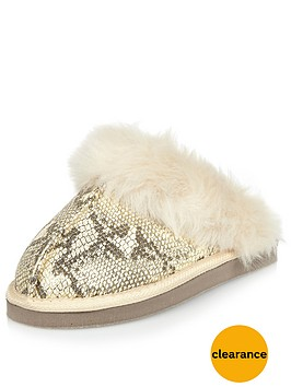 river-island-river-island-glam-snake-closed-toe-mule-slipper