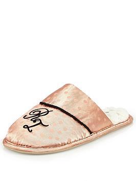 river-island-pink-monogram-h-slipper