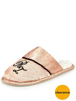 river-island-pink-monogram-h-slipper