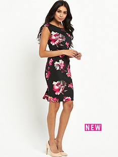 wallis-wallis-petite-midnight-floral-rouche-side-dress