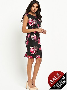 wallis-wallis-petite-midnight-floral-rouche-side-dress