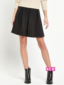 miss-selfridge-miss-selfridge-black-scuba-skater-skirt