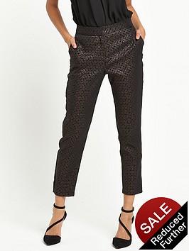 wallis-petite-textured-trousers-bronze