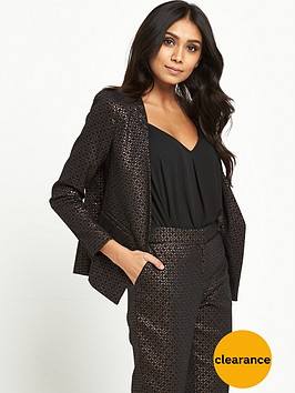 wallis-petite-textured-jacket-bronze