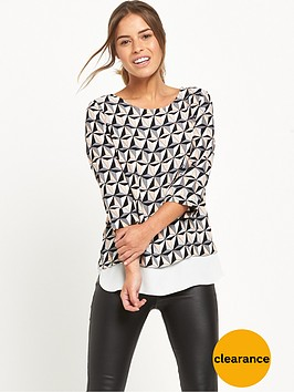 wallis-petite-geo-double-layer-top