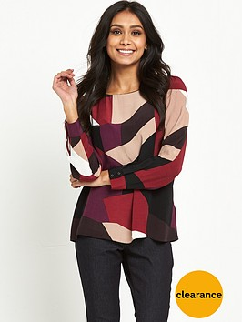 wallis-petite-geo-block-double-layer-top
