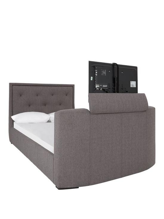Estates Fabric Lift Up Storage Tv Bed Frame With Mattress Options