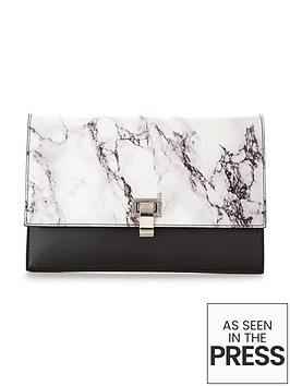 v-by-very-metal-detail-envelope-marble-effect-clutch