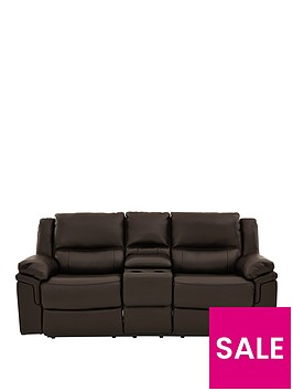 albion-luxury-faux-leather-2-seaternbspmanual-recliner-sofa-with-cup-holders