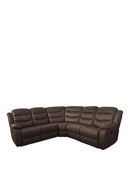 Rothbury Luxury Faux Leather Manual Recliner Corner Group Sofa thumbnail