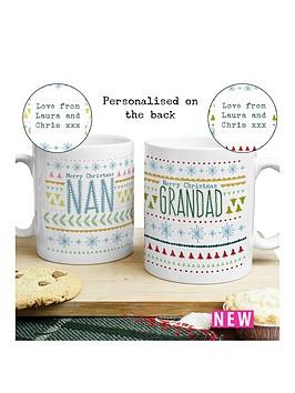 personalised-nan-amp-grandad-christmas-mug-set