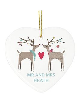 personalised-reindeer-couple-ceramic-heart