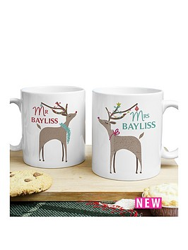 personalised-reindeer-couple-mug-set