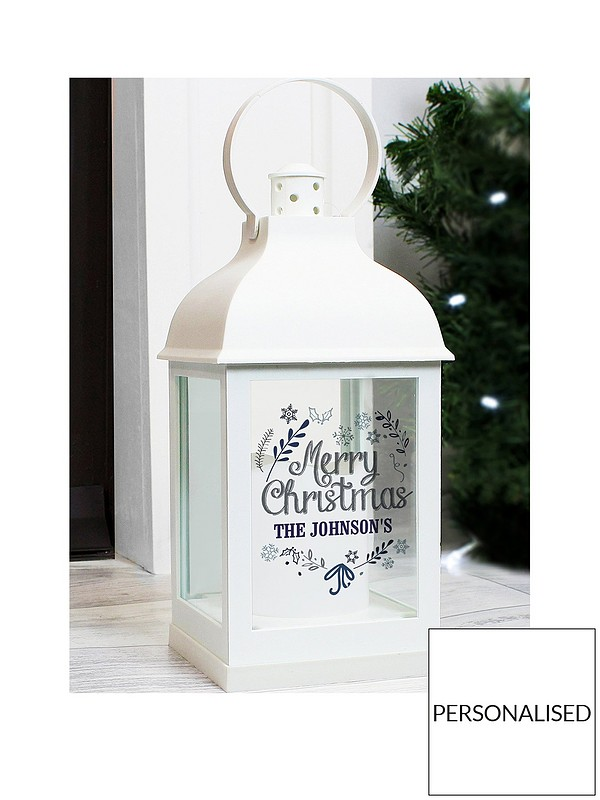 Christmas Lantern.Personalised Black Christmas Lantern