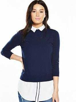 v-by-very-shirt-collar-tipped-2-in-1-jumper