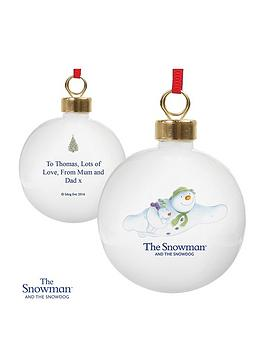 the-snowman-personalised-bauble