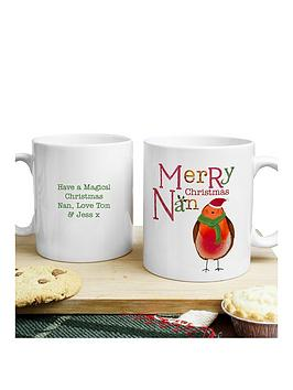 personalised-christmas-robin-nan-mug