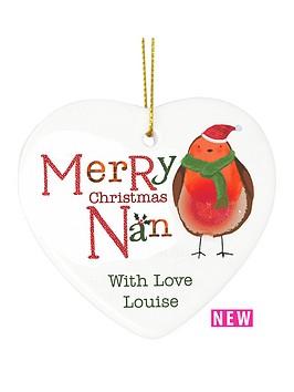 personalised-christmas-robin-nan-ceramic-heart