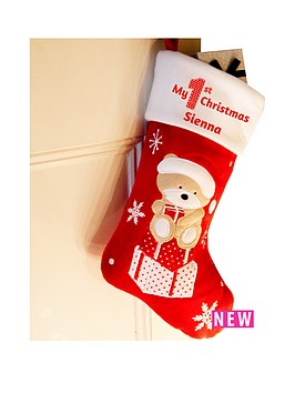 personalised-my-1st-christmas-teddy-stocking