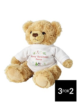 personalised-christmas-teddy-bear