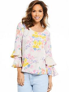 myleene-klass-ruffle-sleeve-button-back-blouse