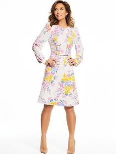 myleene-klass-pintuck-front-tea-dress